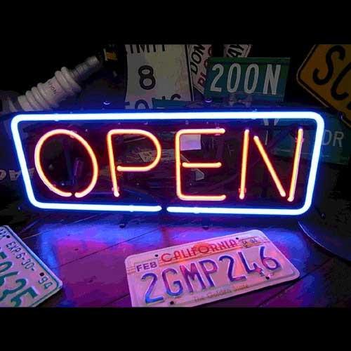 ネオンサイン / OPEN (L) オープン 看板