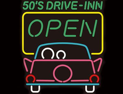 ネオンサイン / 50's DRIVE-INN ドライブイン 看板