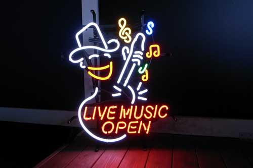 ネオンサイン / LIVE MUSIC OPEN ライブ ミュージック オープン 看板