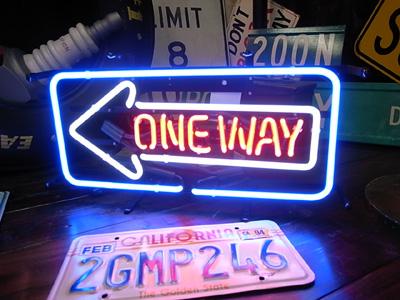 ネオンサイン / ONE WAY ワンウェイ 看板