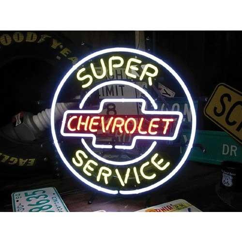 ネオンサイン / CHEVROLET SUPER SERVICE シボレー スーパーサービス 看板