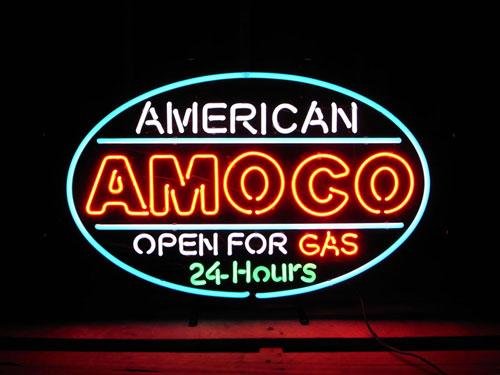 専門ショップ ネオンサイン / AMOCO 24HRS アモコ 24時間営業 看板, sandy style 4e8af8c9