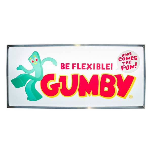 Import Signboard [04/GUMBY] ガンビー 電飾看板 LED 内蔵 吊り下げ看板 アメリカン雑貨