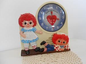「アンティーク」ラガディ・トーキング時計、ボブスメリル1976年製【カントリー雑貨】
