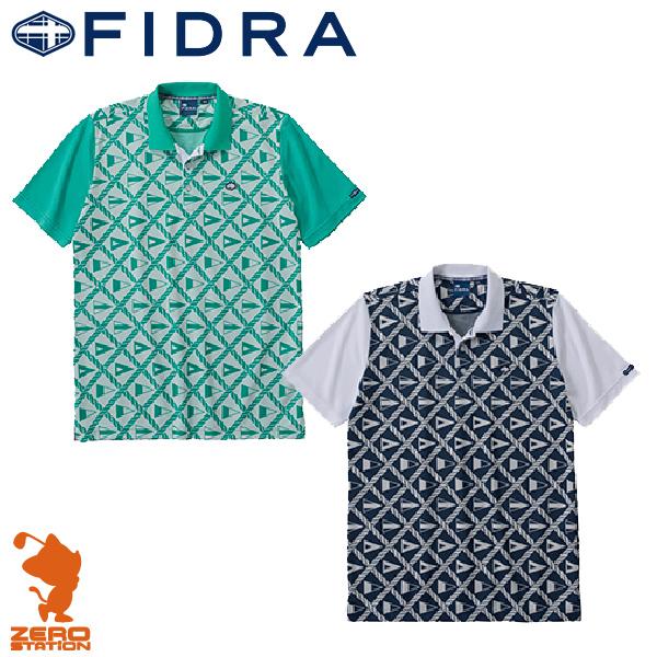《あす楽》FIDRA フィドラ I110112 メンズウェア 半袖 ポロシャツ 吸汗速乾 FLAG柄 全2色[16春夏][特価セール品]