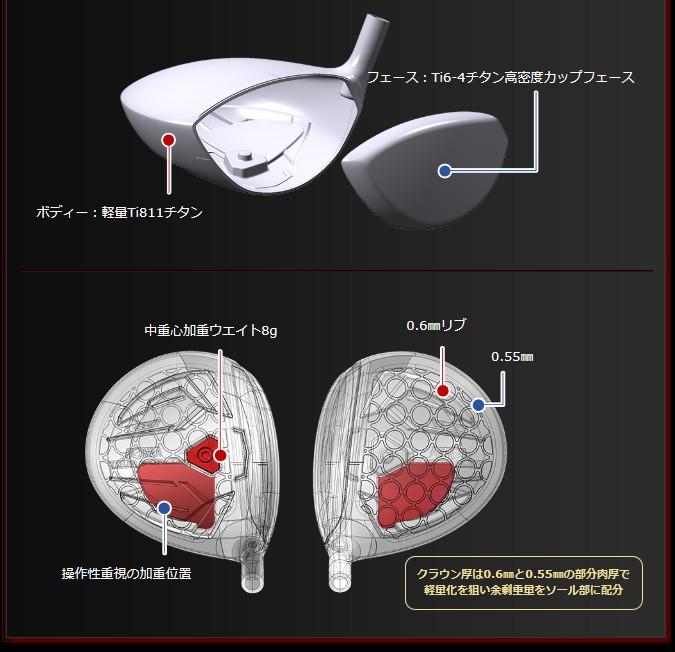 HONMA GOLF TOUR WORLD TW737 450 Driver VIZARD EX-C graphite shaft