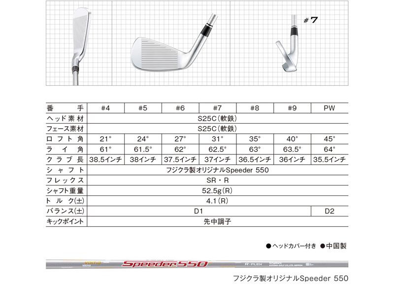 KATANA 카 타나 2016 년 모델 VOLTIO IV MODEL C IRON ボルティオ IV 모델 C 아이언 7 개 세트 SPEEDER SILVER 카본 샤프트