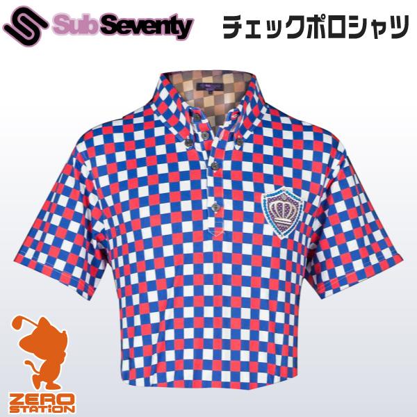 《あす楽》SubSeventy サブセブンティー AS10088 メンズウェア チェックポロシャツ 半袖 春夏用