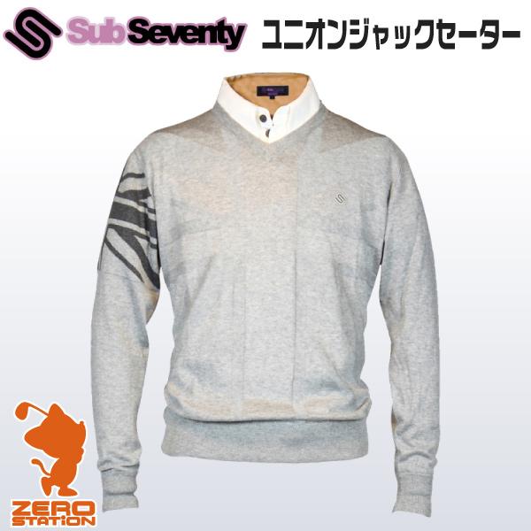 《あす楽》SubSeventy サブセブンティー AS11002 メンズウェア ユニオンジャックセーター 秋冬用
