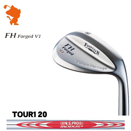 フォーティーン FH Forged V1 パールサテン ウェッジFOURTEEN FH Forged V1 WEDGENSPRO MODUS3 TOUR120 スチールシャフトメーカーカスタム 日本正規品