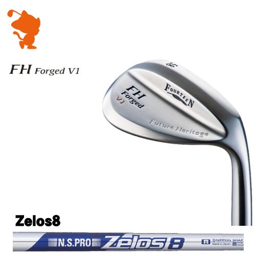 フォーティーン FH Forged V1 パールサテン ウェッジFOURTEEN FH Forged V1 WEDGENSPRO Zelos8 スチールシャフトメーカーカスタム 日本正規品
