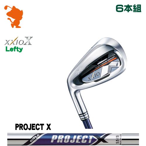 ダンロップ ゼクシオテン レフティ アイアンDUNLOP XXIO X Lefty IRON 6本組PROJECT X スチールシャフトメーカーカスタム 日本正規品
