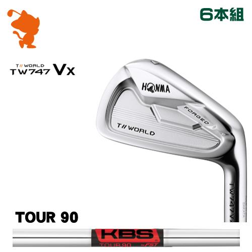本間ゴルフ ツアーワールド TW747Vx アイアンHONMA TOUR WORLD TW747Vx IRON 6本組KBS TOUR 90 スチールシャフトメーカーカスタム 日本モデル