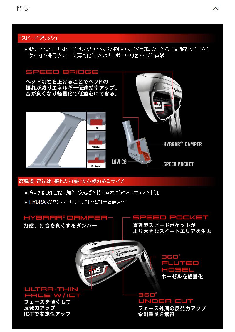 テーラーメイド 2019 M6 レフティ アイアンTaylorMade M6 Lefty IRON 9本組MCI 60 カーボンシャフトメーカーカスタム 日本モデル