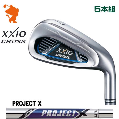 ダンロップ ゼクシオクロス アイアンDUNLOP XXIO CROSS IRON 5本組PROJECT X スチールシャフトメーカーカスタム