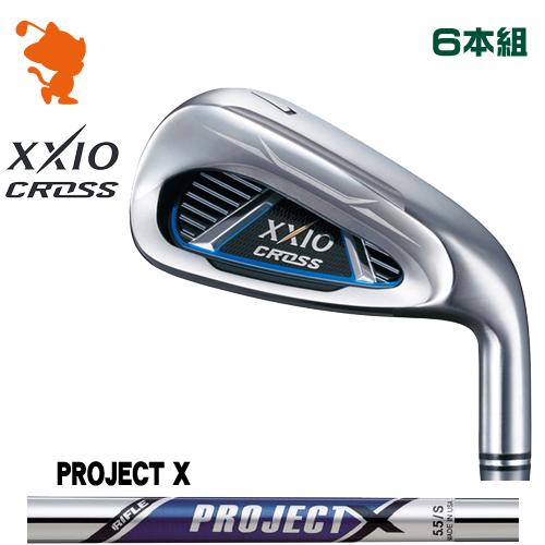 ダンロップ ゼクシオクロス アイアンDUNLOP XXIO CROSS IRON 6本組PROJECT X スチールシャフトメーカーカスタム
