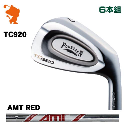 フォーティーン TC-920 FORGED アイアンFOURTEEN TC920 FORGED IRON 6本組AMT RED スチールシャフトメーカーカスタム