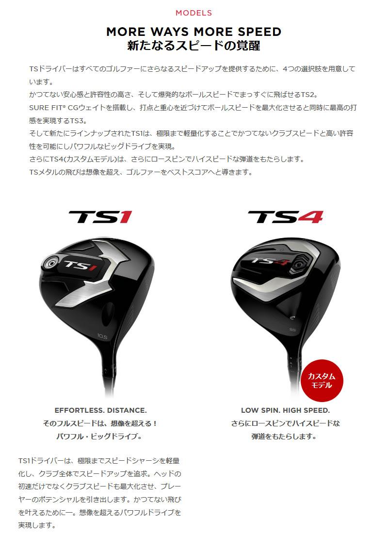タイトリスト 2019 TS1 レフティ ドライバーTitleist TS1 Lefty DRIVERFUBUKI V カーボンシャフトメーカーカスタム 日本モデル
