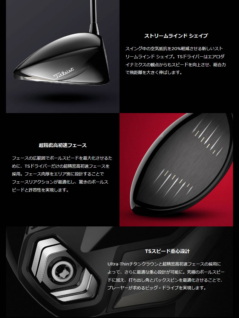 タイトリスト 2019 TS4 レフティ ドライバーTitleist TS4 Lefty DRIVERTourAD TP カーボンシャフトメーカーカスタム 日本モデル
