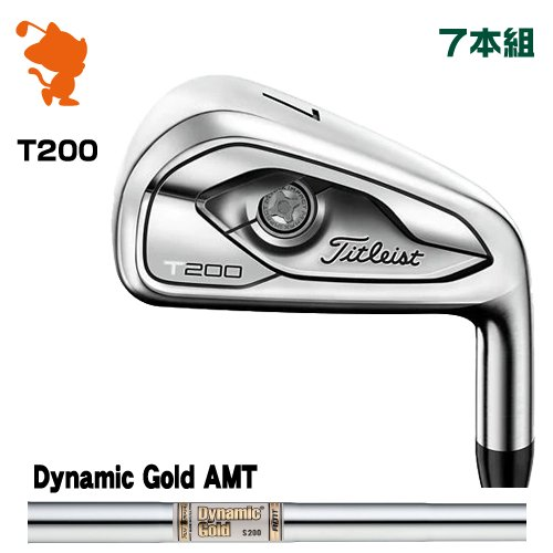 タイトリスト 2019 T200 アイアンTitleist 19 T200 IRON 7本組Dynamic Gold AMT スチールシャフトメーカーカスタム 日本モデル