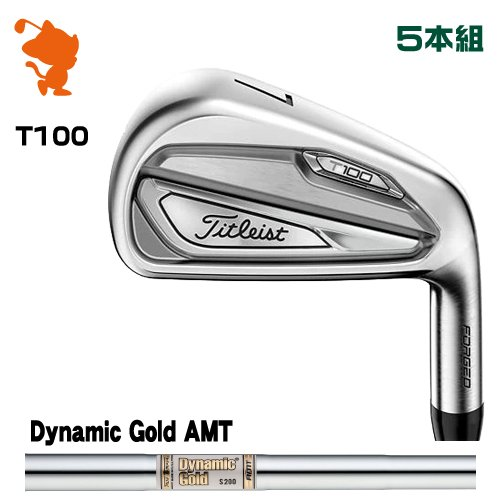タイトリスト 2019 T100 アイアンTitleist 19 T100 IRON 5本組Dynamic Gold AMT スチールシャフトメーカーカスタム 日本モデル