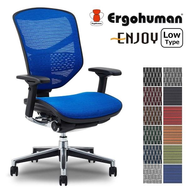 【送料無料】エルゴヒューマン エンジョイ ロータイプ デスクチェア 事務椅子 メッシュ エルゴノミクスチェア 関家具 ハイバック チェア ヘッドレスト リクライニングチェア オフィス パーソナルチェア Ergohuman ENJOY LowType