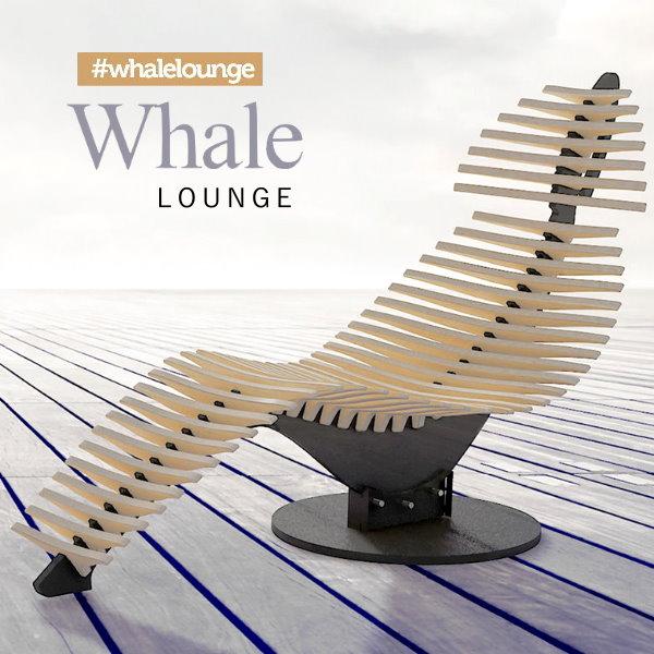 【BELSI HOME/ベルシホーム】スケルトン ホエールラウンジ シェーズロング WhaleLounge ラウンジチェア 寝椅子 椅子 いす エルゴノミクス 人間工学 おしゃれチェア オフィス リビング 疲れにくい 鯨 クジラ 魚 骨格 skeleton モダン 木製 【送料無料】