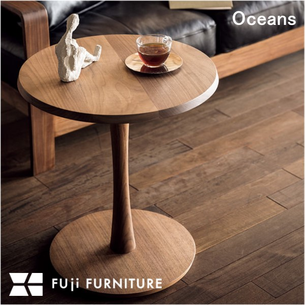 冨士ファニチア 富士ファニチャー Oceans オーシャンズ サイドテーブル ベッドサイド ナイトテーブル 机 T04450S 受注生産 オーダーメイド 木製 ウォールナット チェリー オーク 日本製 モダンデザイン デザイナーズ 北欧 スタイリッシュ シンプル