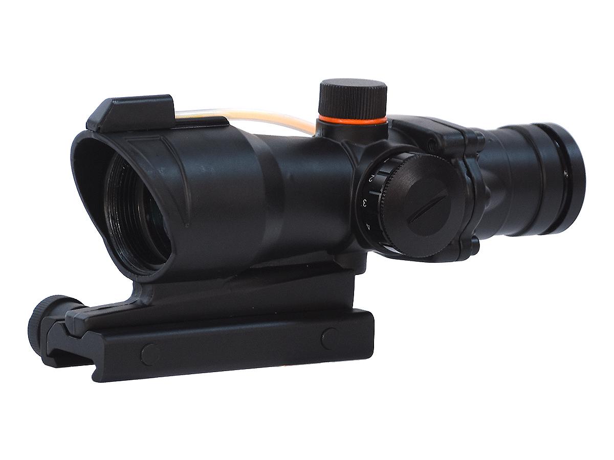 HYUGA ヒューガ 在庫処分 ライフルスコープ NTR4×30FB 採光ファイバー簡易照準付 オープニング 大放出セール 固定式4倍ズーム REDイルミネーションレティクル
