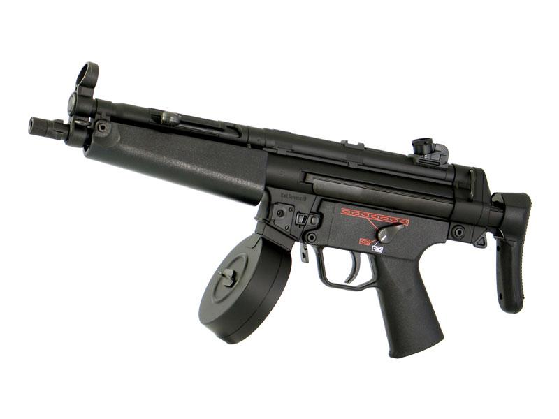 東京マルイ H&K(ヘッケラー&コック) MP5-A5- オートマチック電動エアーガン(電動ガン)本体セット ハイサイクルカスタムシリーズ(HC) 対象年令18才以上(18歳以上) ※400連射ドラムマガジン標準装備