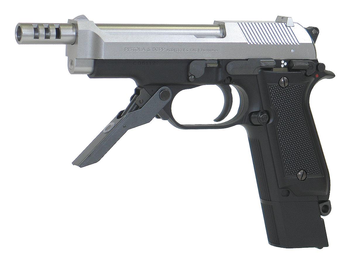 東京マルイ M93R スライドシルバー - 本体セット - 固定スライド(ノンブローバック)・電動ガン(フィクスド電動ハンドガン) 対象年令18才以上(18歳以上) <電動エアガン><電動エアーガン> ※バッテリーと充電器は別売りです。