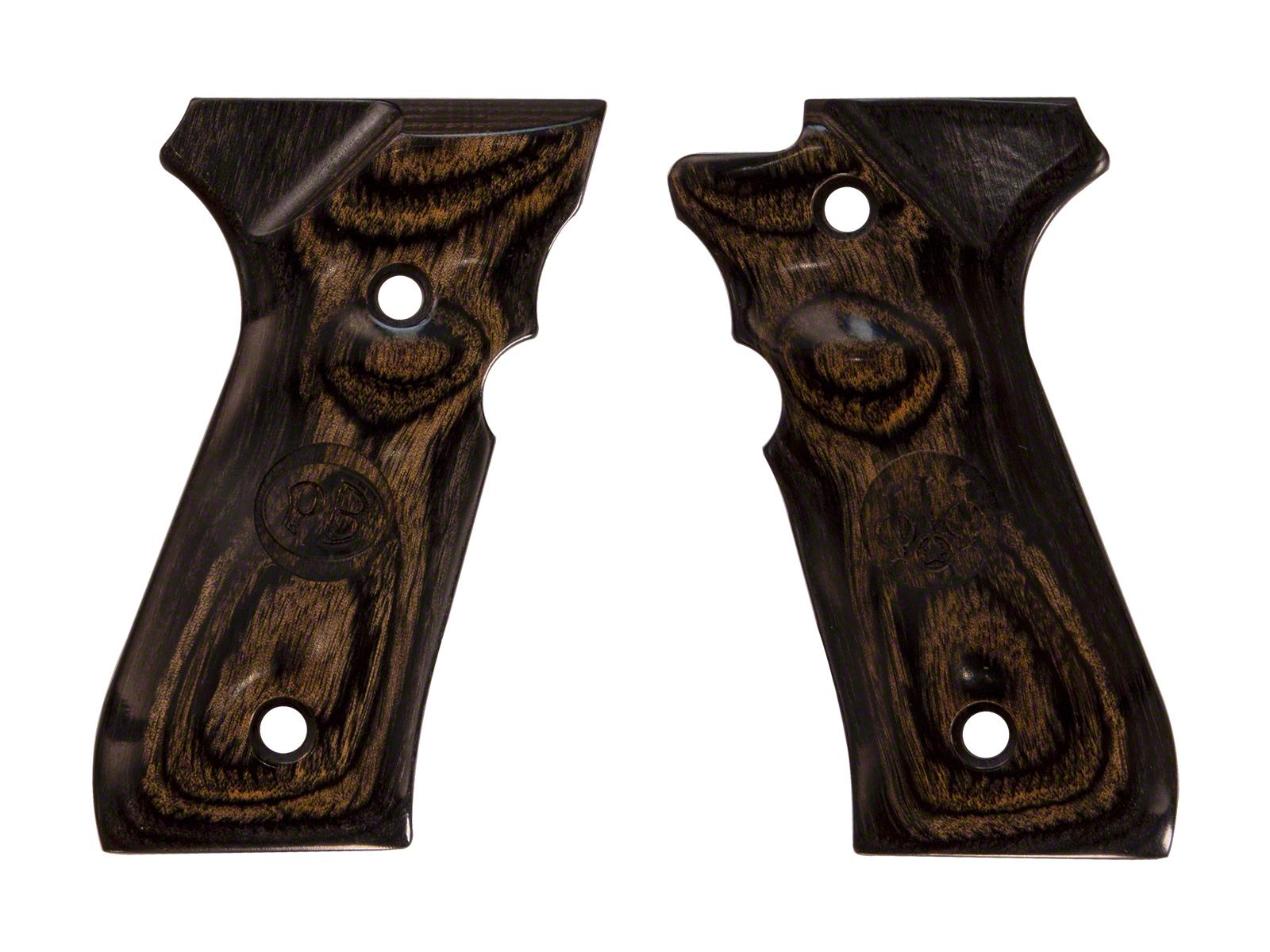 アルタモント ベレッタ M92F用 アルチマスムース ロゴ入り 木製グリップ 黒色(ブラック) <Altamont><Beretta><92FS>