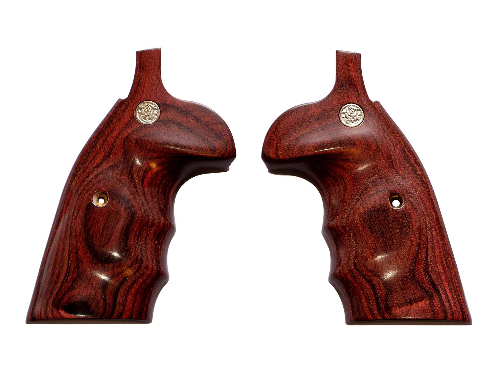 アルタモント <S&W>Kフレーム用 ラウンドバット コンバージョン オーバーサイズ フィンガー スムース 木製グリップ 赤色(ローズ) <Altamont><Smith&Wesson><スミス&ウェッソン>