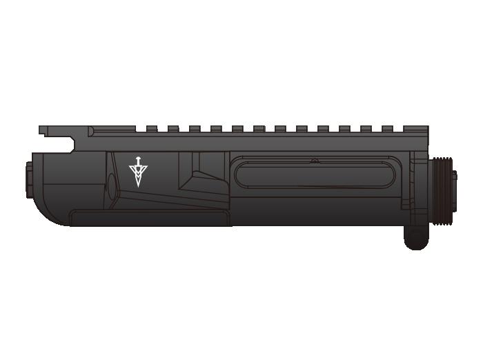 LAYLAX <東京マルイ製>次世代M4シリーズ用 MGアッパーフレーム - MRU-1モデル -  <ライラクス><ファースト・ファクトリー>< F.FACTORY> ※画像は装着イメージです。