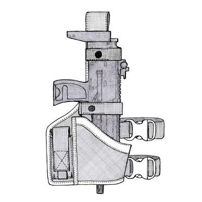 イーストA NO.127 - ブラック - レッグタイプ・MP7A1用ホルスター