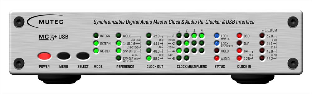 MUTEC - MC-3+USB/Aluminum(USB デジタルオーディオ・マスタークロックジェネレーター)【店頭受取対応商品】【在庫有り即納】