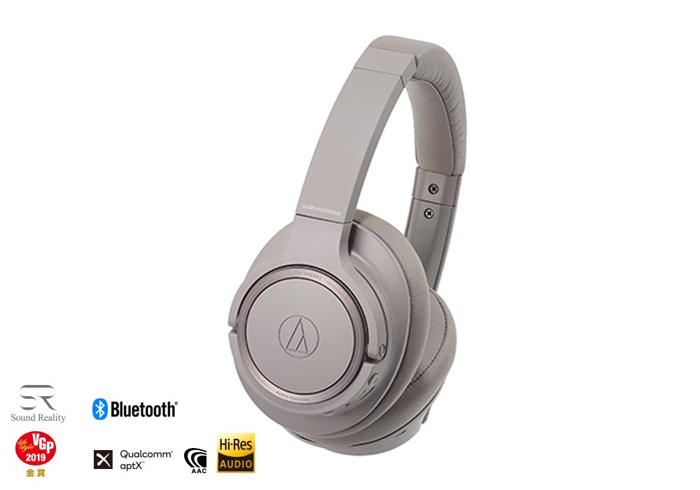 audio-technica - ATH-SR50BT-BW(ブラウン)(ワイヤレスヘッドホン)【店頭受取対応商品】【在庫有り即納】
