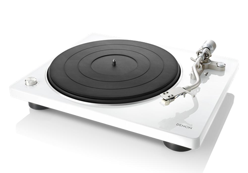 DENON - DP-400/ホワイト[DP400WTEM](ベルトドライブ方式・レコードプレーヤー)【店頭受取対応商品】【在庫有り即納】