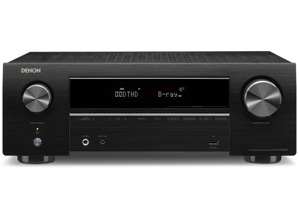 DENON - AVR-X550BT(5.2ch AVサラウンドレシーバー)【店頭受取対応商品】【次回入荷時期未定・ご予約受付中】