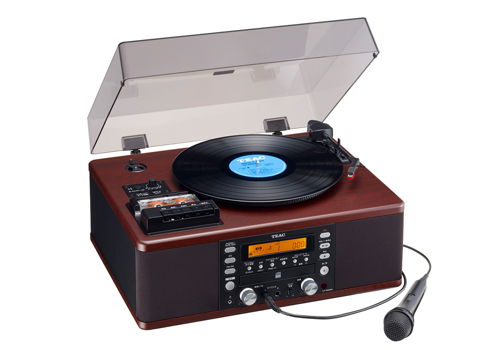 TEAC - LP-R560K(カラオケ機能搭載・ターンテーブル/カセットプレーヤー付CDレコーダー)【店頭受取対応商品】【在庫有り即納】