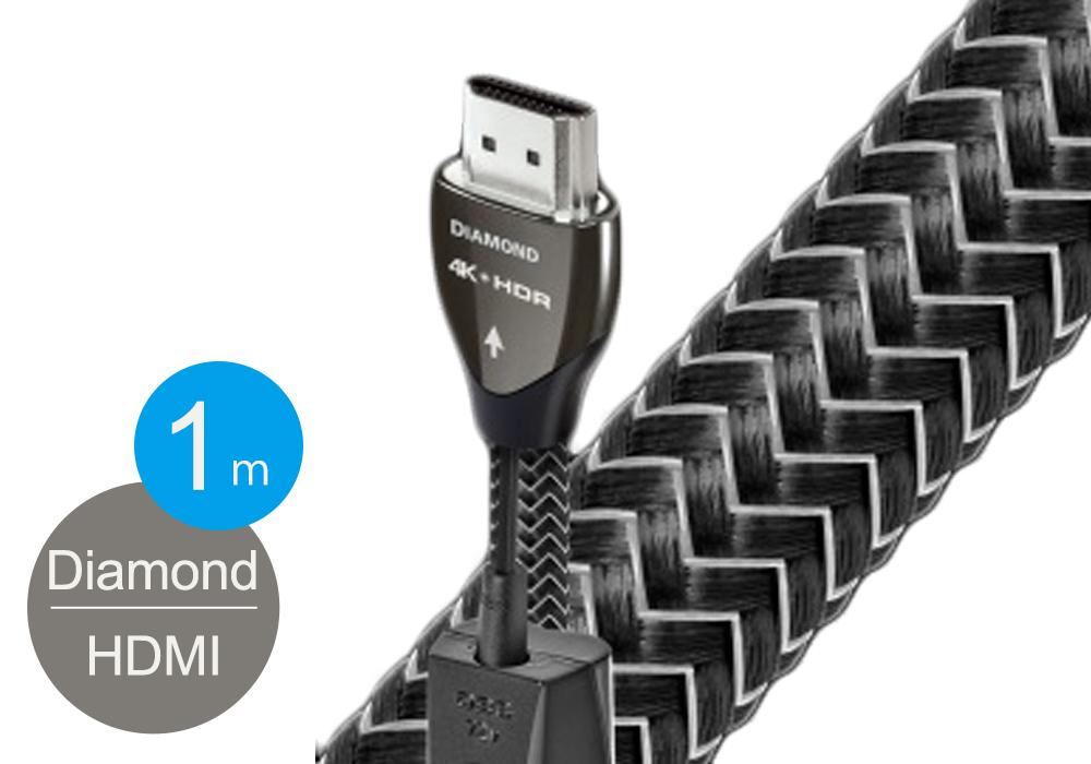 audioquest - HDMI2 DIAMOND/1.0m《HDMI2/DIA/1M》(4K・HDR対応・HDMIケーブル)【店頭受取対応商品】【在庫有り即納】