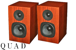 【送料無料】QUAD11L Classic Signature2ウェイブックシェルフバスレフ型マットマホガニー(ペア)