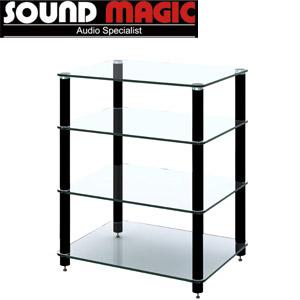 【価格はお問い合わせください】SOUND MAGIC HF04GB オーディオラック クリアガラス