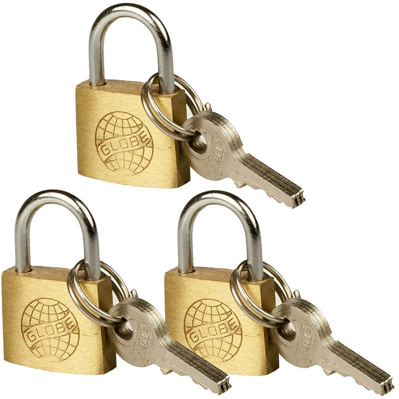 錠前 鍵 キーロック 錠 かぎ padlock 着後レビューで 送料無料 パドロック 小型 国際ブランド 旅行かばん 南京錠1個に付き鍵は3つ付属します 3個セット 真鍮製 防犯 南京錠 スーツケース