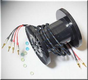 DH LABS ディーエイチラボ Q-10 signature 5m pair (Bi-wire) アンプ側スペード スピーカー側スペード