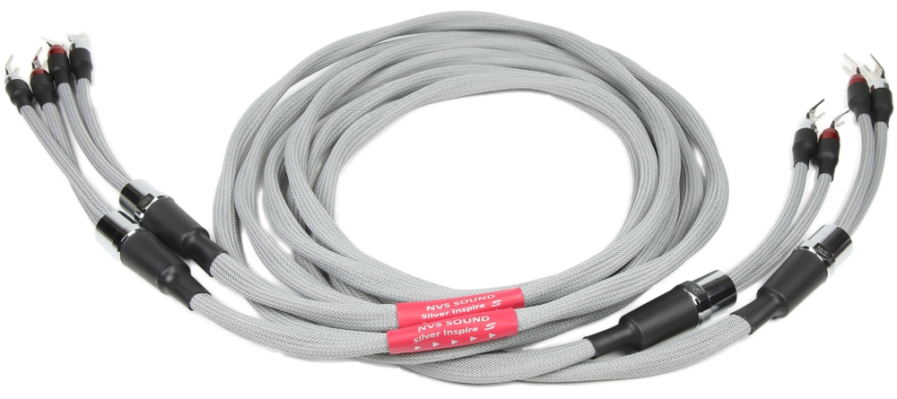NVS Sound エヌブイエスサウンド Silver Inspire S Speaker Cable スプリットバイワイヤ 1.8m