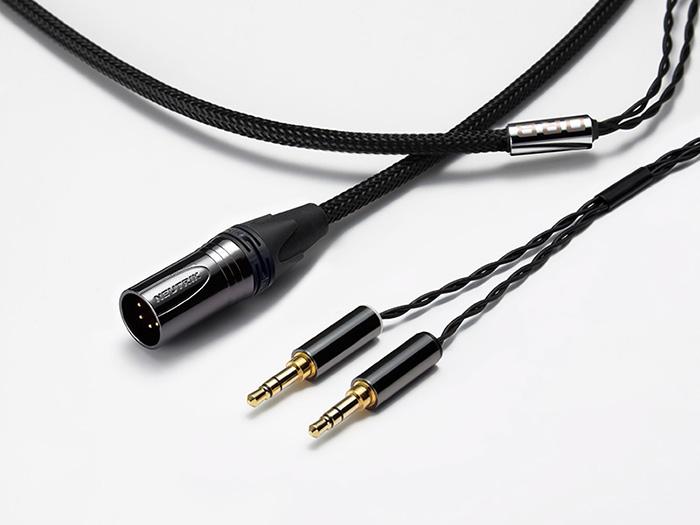 ORB Clear force 3.5φ Slim body double 4pin XLR オーブ ヘッドホン/イヤフォン用 リケーブル