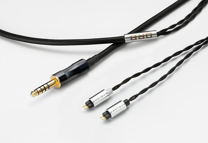 ORB Clear force Custom IEM 2pin 4.4φ オーブ ヘッドホン/イヤフォン用 リケーブル 1.2m