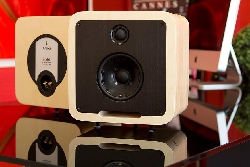 audel Amika loudspeakers Red アウデル スピーカーシステム ペア