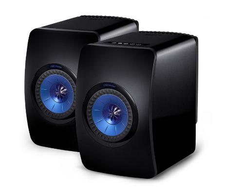 KEF LS50 Wireless グロスブラック/ブルー ケーイーエフ アクティブスピーカー ペア